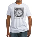 time for some chai clock Fitted T-Shirt