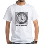 time for some chai clock White T-Shirt