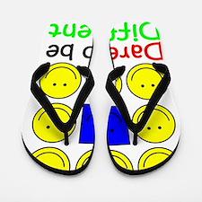 Awareness tee Dare to be Different copy Flip Flops