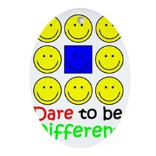 Awareness tee Dare to be Different c Oval Ornament