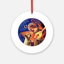J-ORN-Angel3-Labrador-Y7 Round Ornament