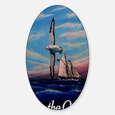 albatross-bottle Sticker (Oval)