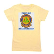 SSI-4TH MARINE RGT-2ND BN WITH TEXT Girl's Tee
