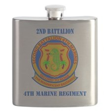 SSI-4TH MARINE RGT-2ND BN WITH TEXT Flask
