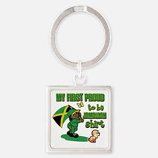 jamaican Square Keychain