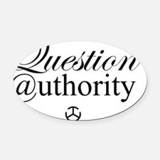 Question Authority Oval Car Magnet