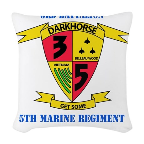SSI - 5TH MARINE RGT-3RD BN WI Woven Throw Pillow