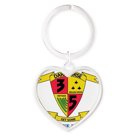 SSI - 5TH MARINE RGT-3RD BN WITH TE Heart Keychain