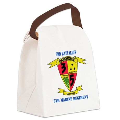 SSI - 5TH MARINE RGT-3RD BN WITH Canvas Lunch Bag