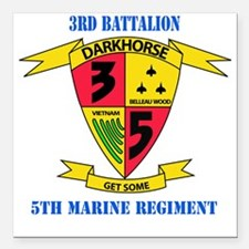 "SSI - 5TH MARINE RGT-3RD Square Car Magnet 3"" x 3"""