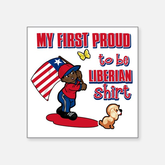 "liberian Square Sticker 3"" x 3"""