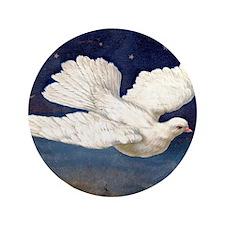 "Dove of Peace 3.5"" Button"