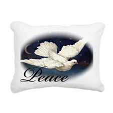 Dove 1_Peace Rectangular Canvas Pillow