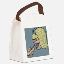 hotdog-girl-OV Canvas Lunch Bag