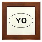 Knitting - YO - Yarn Over Framed Tile