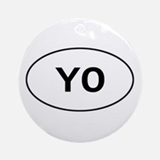 Knitting - YO - Yarn Over Ornament (Round)