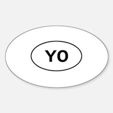 Knitting - YO - Yarn Over Oval Decal