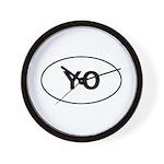 Knitting - YO - Yarn Over Wall Clock