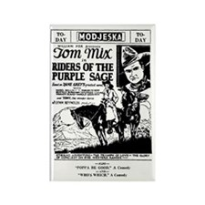 Tom Mix Riders of Purple Sage Rectangle Magnet