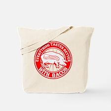 Pig- Red Tote Bag