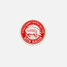 Pig- Red Mini Button