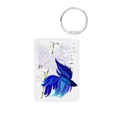 Blue and White Siamese Fig Keychains