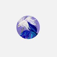 Blue and White Siamese Fighting Poster Mini Button