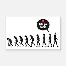Evolution (ok lets go back) Rectangle Car Magnet
