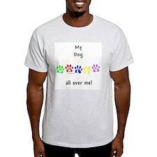Dog Walks Ash Grey T-Shirt
