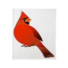 redcardinal Throw Blanket