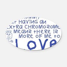 Awareness tee More 2 Love mommy Oval Car Magnet
