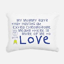 Awareness tee More 2 Lov Rectangular Canvas Pillow