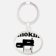 Smokin - SMoker BBQ Oval Keychain