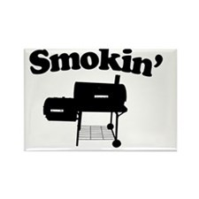 Smokin - SMoker BBQ Rectangle Magnet