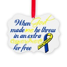 free chromosome black Ornament