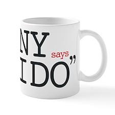 NY says I DO Grey Low Mug