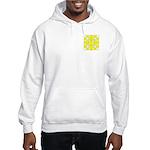 Yellow Owls Design Hooded Sweatshirt