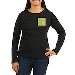 Yellow Owls Design Women's Long Sleeve Dark T