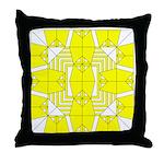 Yellow Owls Design Throw Pillow