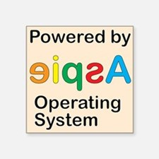 """Aspie OS Square Sticker 3"""" x 3"""""""
