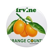 irvine-design Round Ornament