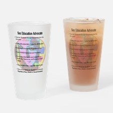 sex_ed_advocate_7goals_backprint Drinking Glass