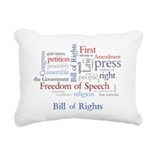 Freedom of Speech: First Rectangular Canvas Pillow
