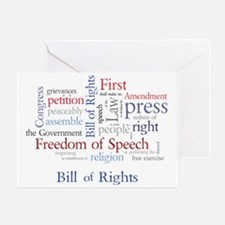 Freedom of Speech: First Amendment Greeting Card