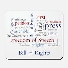 Freedom of Speech: First Amendment Mousepad