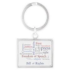 Freedom of Speech: First Amendm Landscape Keychain