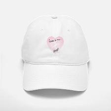 Love is my dog Baseball Baseball Cap