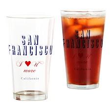 SanFrancisco_10x10_ILoveUMore Drinking Glass