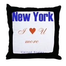 NewYork_10x10_ILoveUMore Throw Pillow