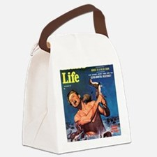 MANS LIFE, Sept. 1956 Canvas Lunch Bag